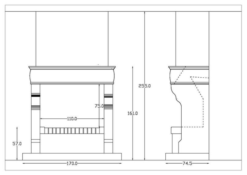 Plan Cheminée Foyer Ouvert Pdf : Chemine classique amazing bois faces foyer ouvert