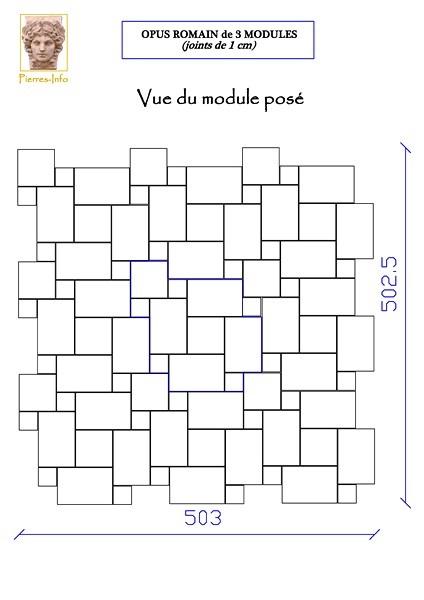 Comment poser opus romain la r ponse est sur for Carrelage module 4 formats